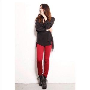J Brand 811 Black Cherry Skinny Twill Jeans 27